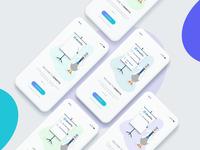 Denefits App Walk-through screens