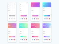 Signup Design screens