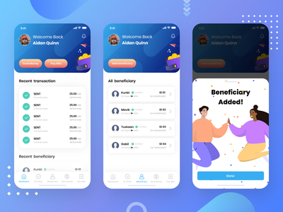 Payment App animation gif joyful fun payment paypal beneficiary pay ios iphone x minimal ui design vector beautiful ux ux design illustration ui clean payment app