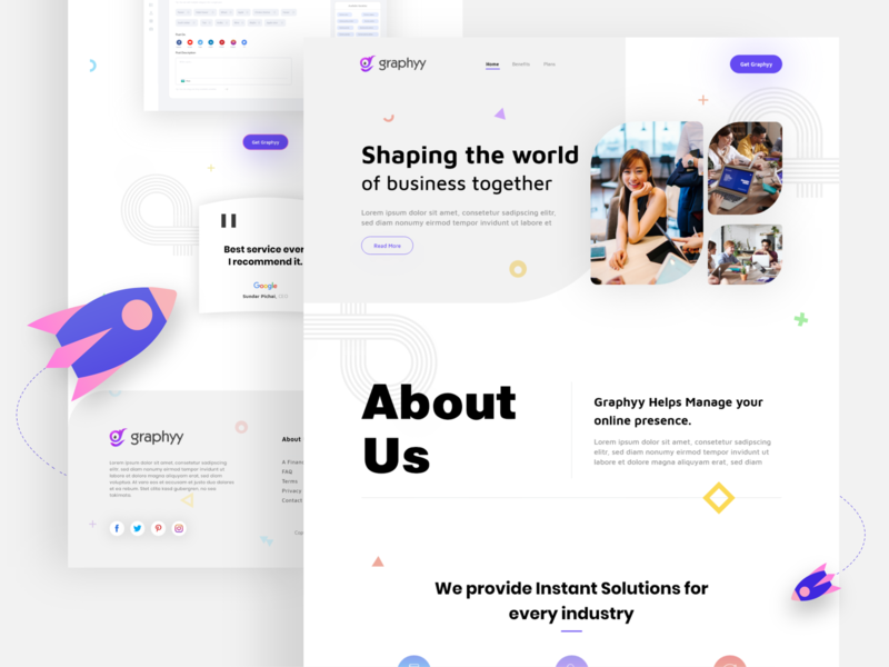 Graphyy Landing Page