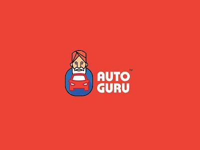 Logo Design - Auto Guru stationery car expert car expert mascot logo mascot logo identity trading car branding vector graphic design illustration pratikartz