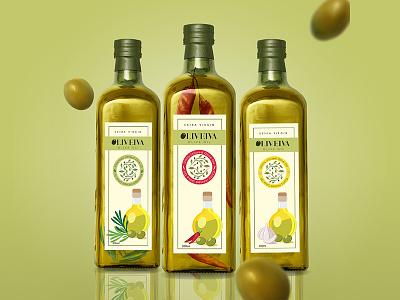 Packaging Design - Olive Olive Oil mockup olive oil logo design branding packaging design illustration graphic design pratikartz