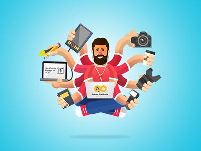 Multitasking Designer - Mascot Design