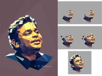 AR Rahman - Polygonal Portrait