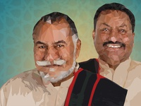 Low Poly Portrait Wadali Brothers