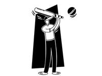 Cricket Illustration - Batsman