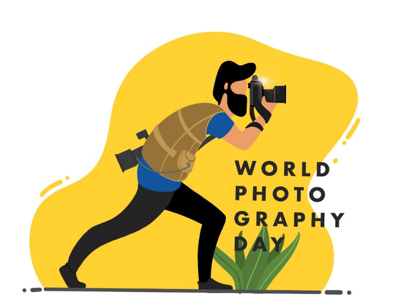Photographer Illustration yellow jacket bearded photography procreate lense camera photographer sketch digital painting character design graphic design illustration pratikartz