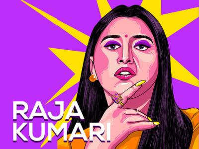 Raja Kumari - Portrait Illustration