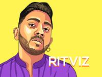 Portrait Illustration - Ritviz