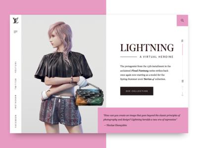 Lightning: A Virtual Heroine | Louis Vuitton