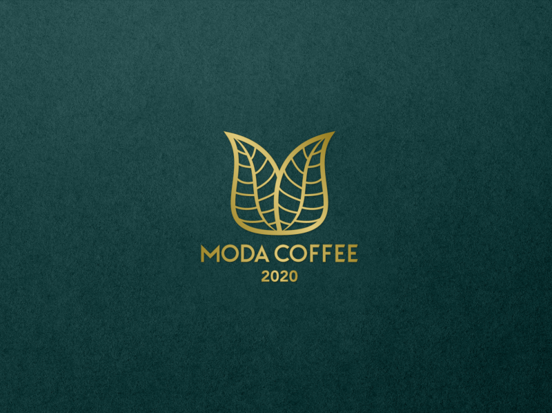 Moda Coffee - Logo leaves m moda green luxury coffe coffee creative icon mark branding design logos brand logo