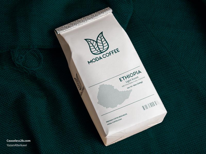 Moda Coffee -  Packaging elegant m moda coffeeshop coffee coffe packaging ui 2d illustration creative mark branding design logos brand logo