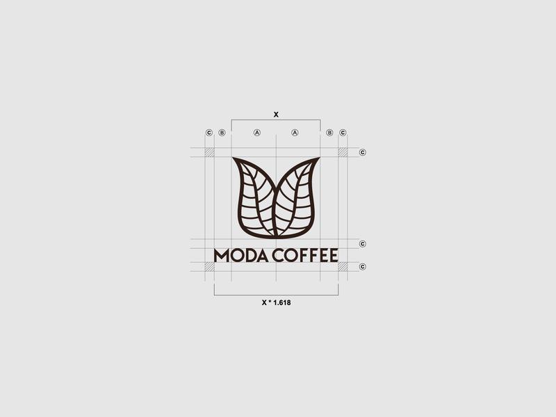 Moda Coffee - Logo Grid minimal grid concept colors 2b ux coffee ui creative icon mark branding design logos brand logo