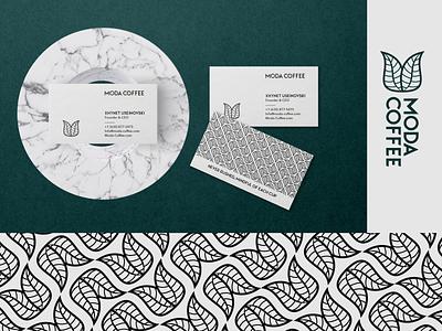 Moda Coffee - Branding logosai 2d typography creative business card icon ui concept leave coffe coffee logos design brand logo
