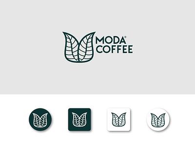 Moda Coffee - App Icon minimalist logo green app design ui minimal app coffee shop coffee freebie 2d ux icon mark branding logos design brand logo