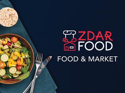 Zdar Food restaurant food typography ux icon mark branding logos design brand logo