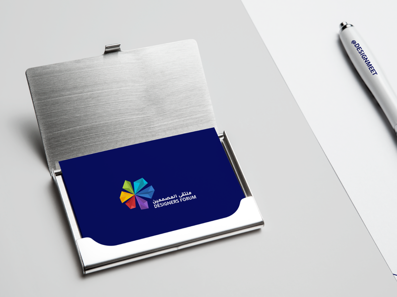 DesMeet  - Business Card شعارات-عربية شعارات شعار ملتقى المصممين desmeet 2d psd mockup mockup ui logos design brand logo
