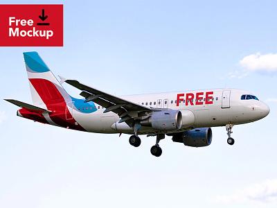 Freebie - Airplane Mockup plane aircraft airline mockup free free mockup free psd creative mark freebies freebie free logos brand logo
