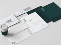 Moda Coffee stationary design mockup design logo coffee