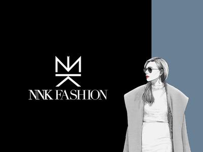 NNK Fashion - Brand Design yatfff face illustration 2d fashion nnk nk icon mark branding design logos brand logo