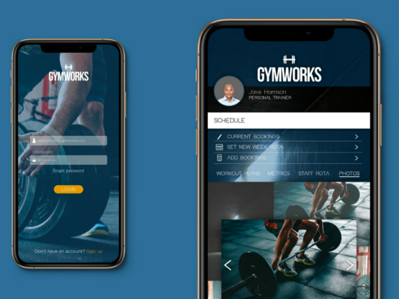 Gymworks app ui ui ux app design gym login