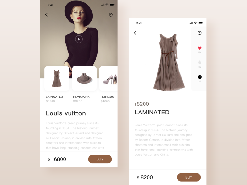 Fashion details page ux app ui fashion app shopping model clothes clothing buy a piece suit details page fashion