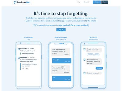 Reminder Bot webdesign phone website app reminder