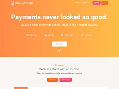 Responsive Invoices 2020 branding website ui invoice invoice design pricing webdesign