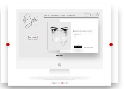 UI/UX Design ~ Daily UI ~ N3 ~ Landing Page web book minimal illustrator illustration uxui uxdesign ux ui uidesign design dailyui daily 100 challenge