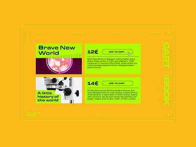 Online Book Store - Concept vector design typography brutalist brutalism website webdesign ui simple concept