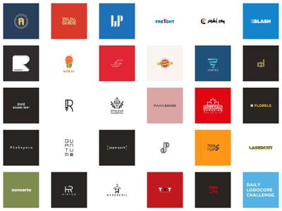 Finished - 30 Days LogoCore Challenge challenge identity illustrator type ui vector typography minimal logo lettering illustration flat icon design branding logocore