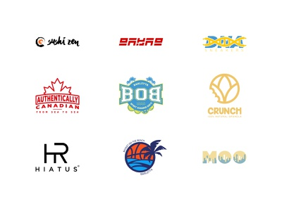 Logo Collection 1 clothing clothes brand authentic canada logo a day cereal granola crunch ice cream beach basket hiatus shoes sneakers dna sushi collection abstract logo