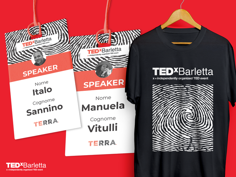 TEDxBarletta - Branding teddy badge tshirt design tedxtalks tedtalks event apulia italy barletta tedxbarletta tedx ted