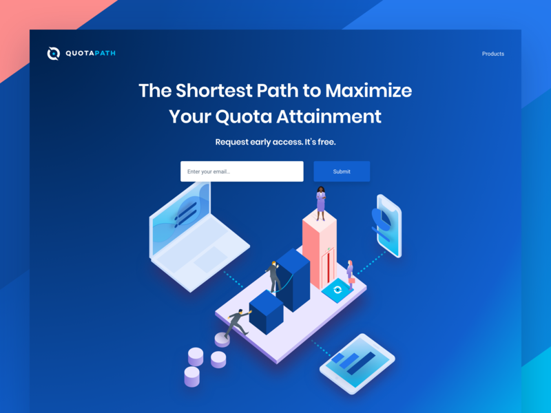 Landing Page Illustration graphic chart ui flat quotation isometric desktop web landing page illustration