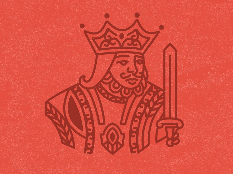 Get Lucky King icon illustration king vector screen print