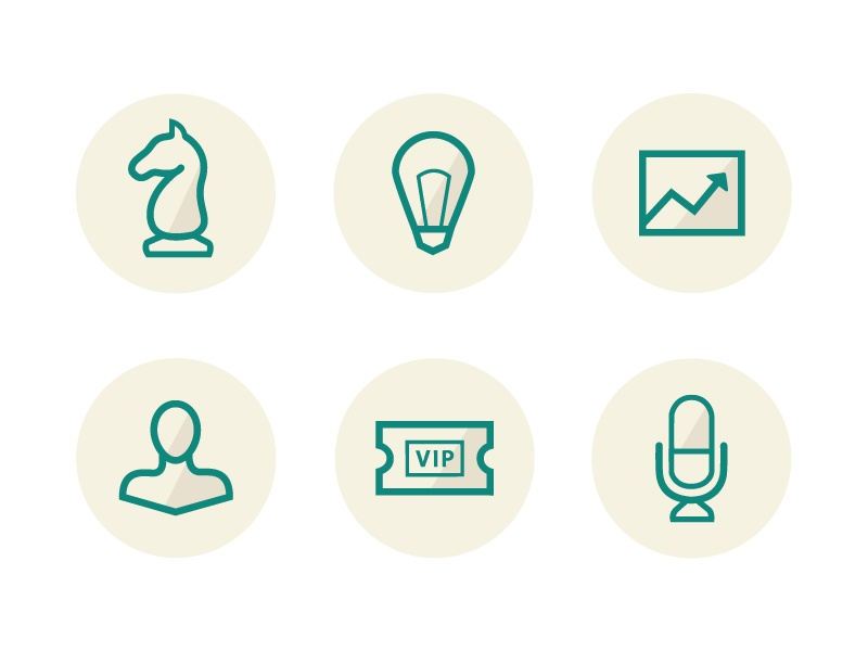 Line Iconation 160 icons lightbulb graph ticket microphone chess piece silhouette icon web design line