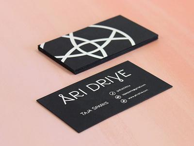 Ari Drive print business card metallic silver foil letterpress identity branding iconography logotype