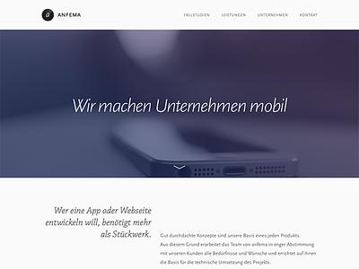 anfema 2013 web redesign scala sans chaparral pro