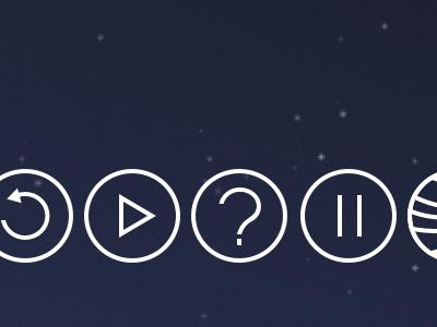 R P ? P P ↓ icons outline white symbols