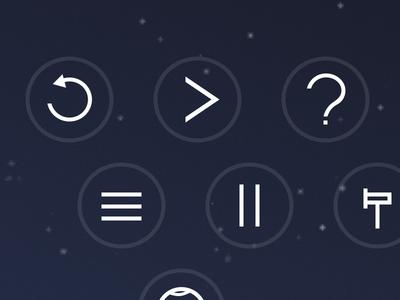 R P ? M P E P ↓ icons outline white symbols