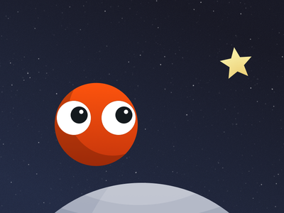 Meet Max schwerkraft max sketch.app vector character star planet gravity