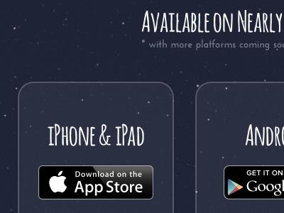 Available on Nearly website schwerkraft download app store badges amatic josefine