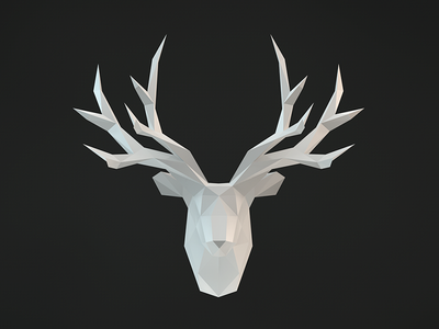 The Stag cinema4d 3d low poly polygon stag deer