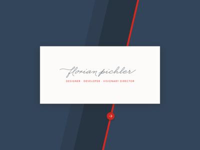 Designer · Developer · Visionary Directory stripes business card