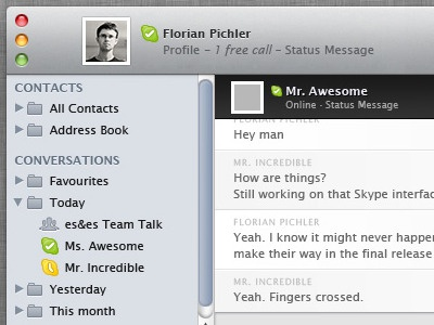 Skype 5 merged with iTunes 10 Update
