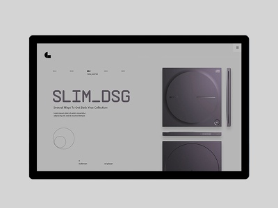 Sony - Walkman, Back to Basics concept web ux ui