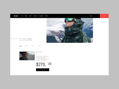 Oakley Prizm design digital interface ux ui