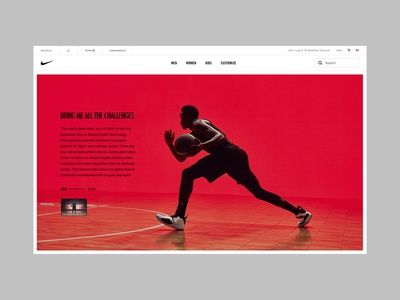 Nike AirJordan XXXIII web design digital interface ux ui