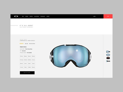 Oakley Prizm web design digital interface ux ui
