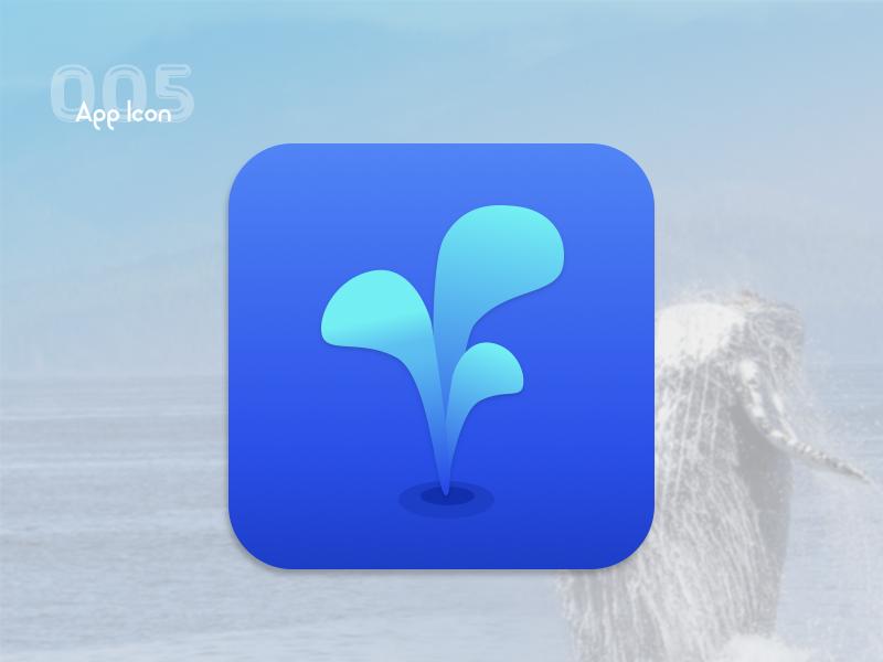 App Icon- UI Challenge 005 daily ui spout whale icon
